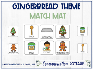 Gingerbread Match Mat