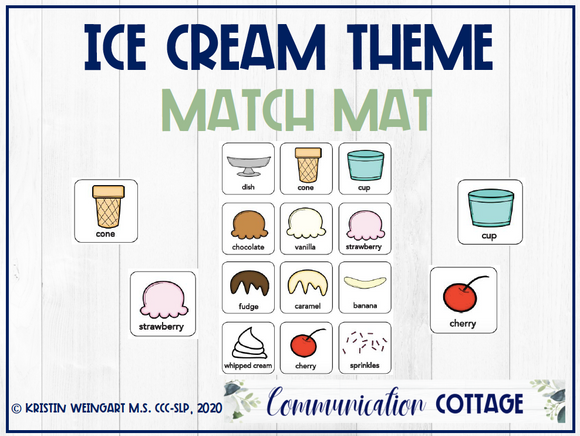 Ice Cream Match Mat