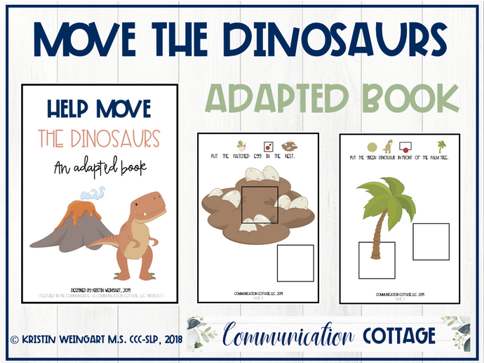 Help Move the Dinosaurs: Adapted Book