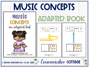 Music Concepts: Adapted Book