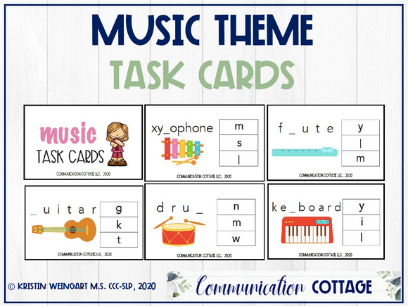 Music Task Cards