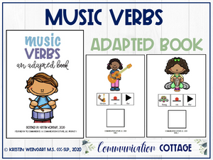 Music Verbs: Adapted Book