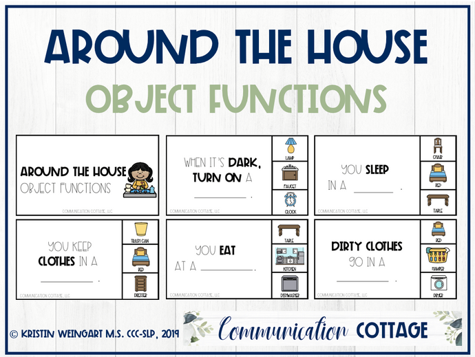 Around the House: Object Function Task Cards