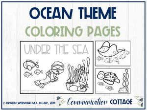 Ocean Coloring Pages (PDF)