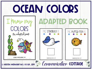 I Know My Colors: Adapted Book