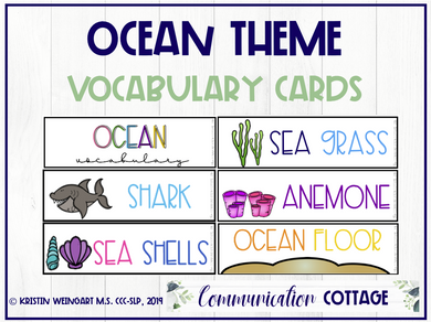 Ocean Vocabulary Cards (PDF)