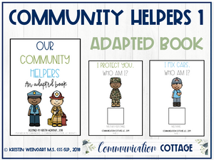 Our Community Helpers 1: Adapted Book