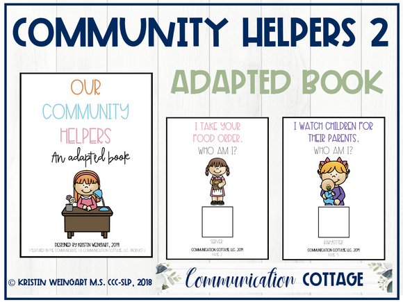 Our Community Helpers 2: Adapted Book
