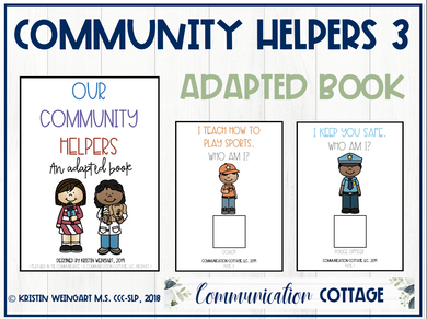 Our Community Helpers 3: Adapted Book