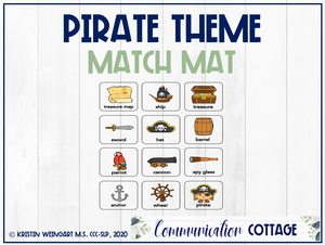 Pirate Theme Match Mat