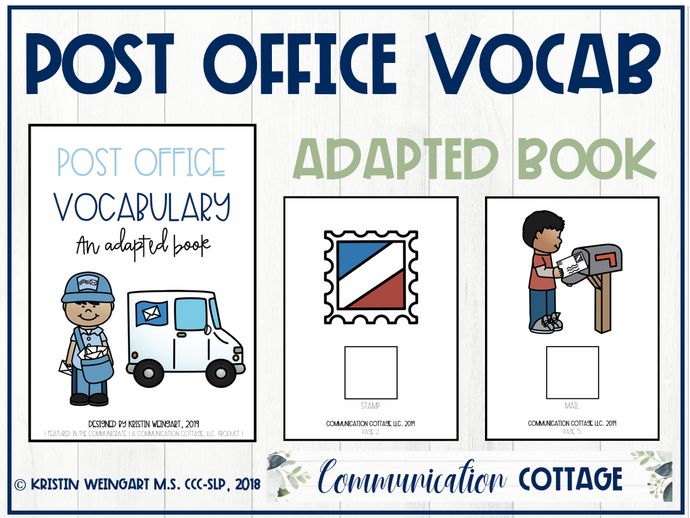 Post Office Vocabulary: Adapted Book