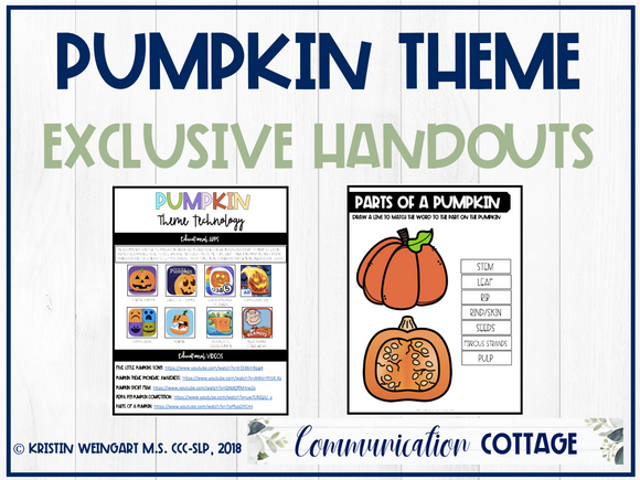 Pumpkin Exclusive Handouts
