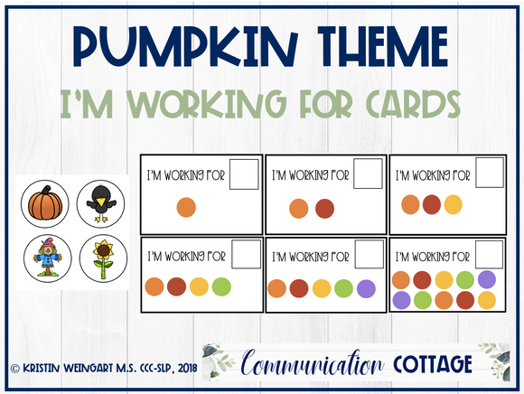 Pumpkin: I'm Working for Cards