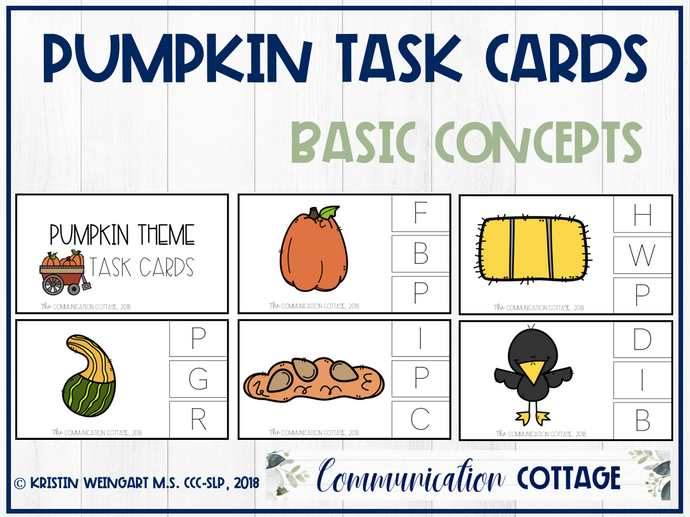 Pumpkin Task Cards