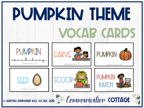 Pumpkin Vocabulary Cards