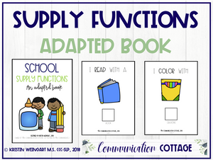 School Supply Functions: Adapted Book