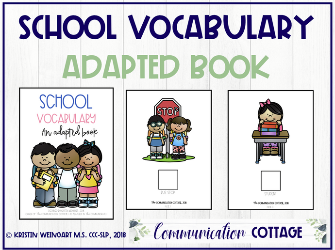 School Vocabulary: Adapted Book (PDF)