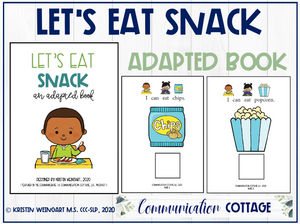 Let's Eat Snack: Adapted Book