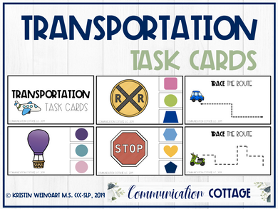 Transportation Task Cards
