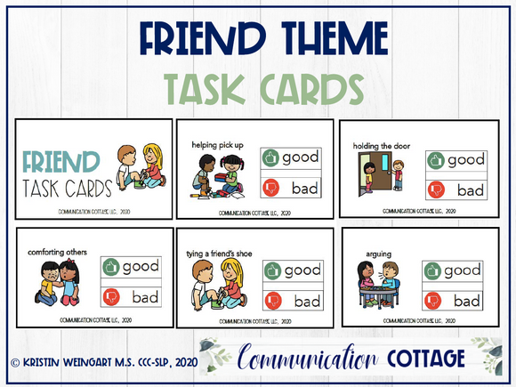 Friend Task Cards
