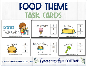Food Theme Task Cards