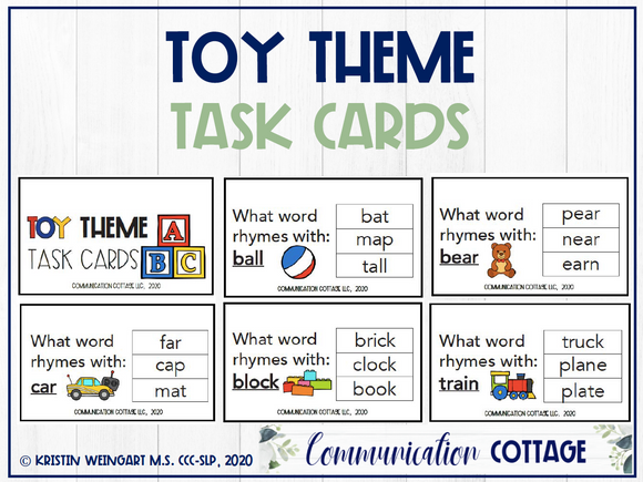 Toy Task Cards