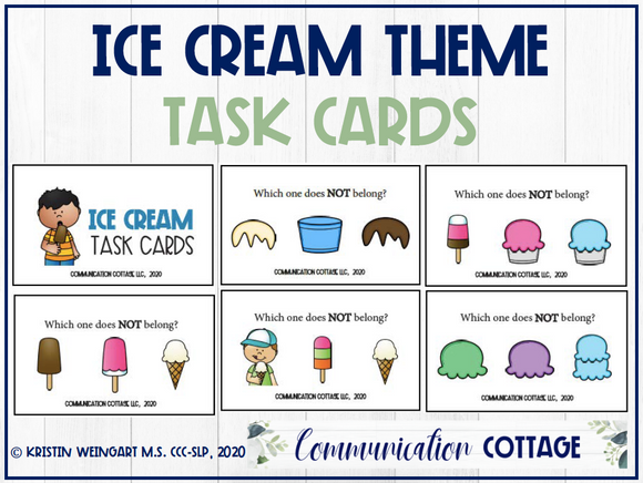 Ice Cream Task Cards