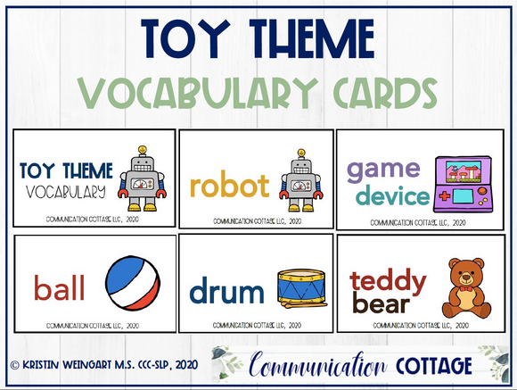 Toy Vocabulary Cards