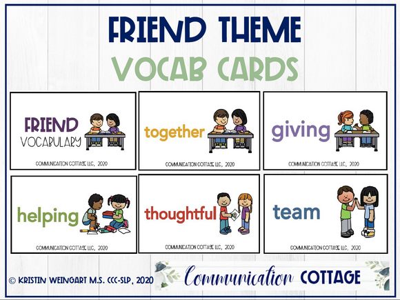 Friend Vocabulary Words