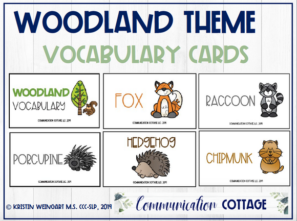Woodland Vocabulary Cards