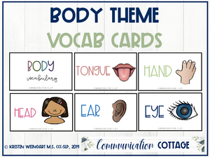 Body Vocabulary Cards