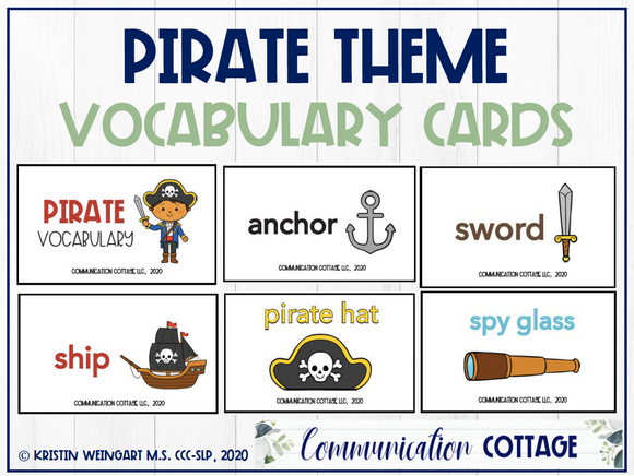 Pirate Vocabulary Cards
