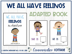 We All Have Feelings: Adapted Book