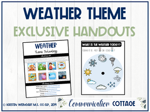 Weather Exclusive Handouts
