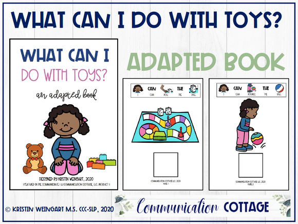 What Can I Do With Toys: Adapted Book
