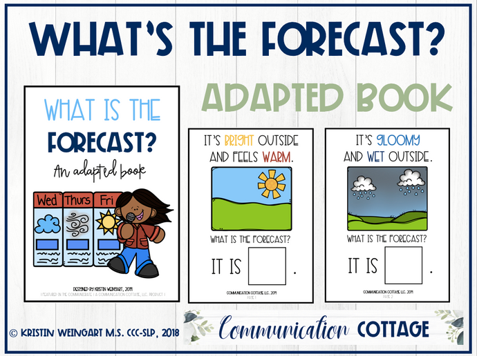 What's The Forecast?: Adapted Book