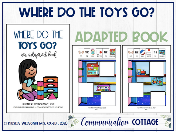 Where Do The Toys Go: Adapted Book