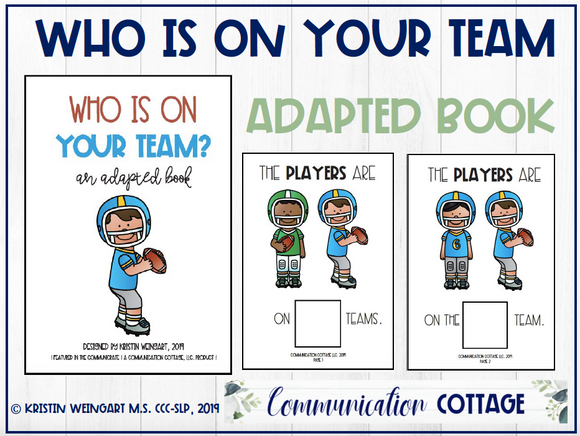 Who Is On Your Team: Adapted Book