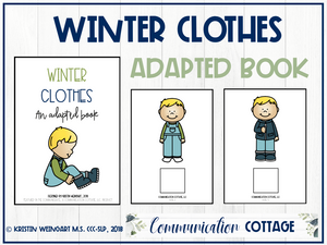 Winter Clothing: Adapted Book