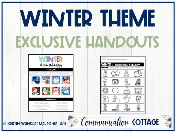 Winter Exclusive Handouts