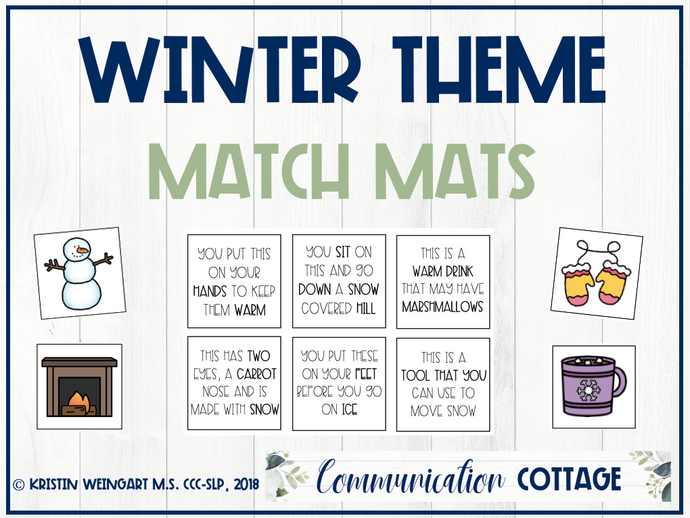 Winter Activities Match Mat