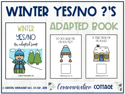 Winter Yes/No: Adapted Book