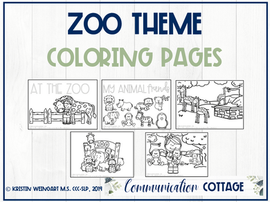 Zoo Coloring Pages (PDF)
