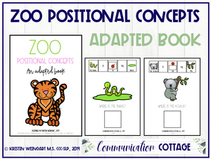 Zoo Positional Concepts: Adapted Book