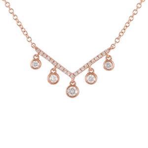 Diamond Peace Necklace - 14k White Gold