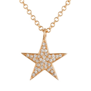 DinaCollection_Necklace_Diamond Star_Rose Gold_3985DWN4RXA11