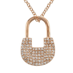 DinaCollection_Necklace_DiamondLock_Rose Gold_5002DWN4RXA11