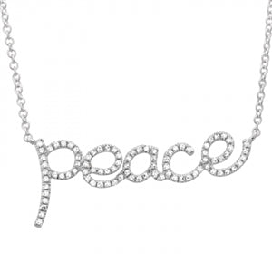 Mr Dazzle Emoji - Diamond Emoji Shades Necklace -14k White Gold