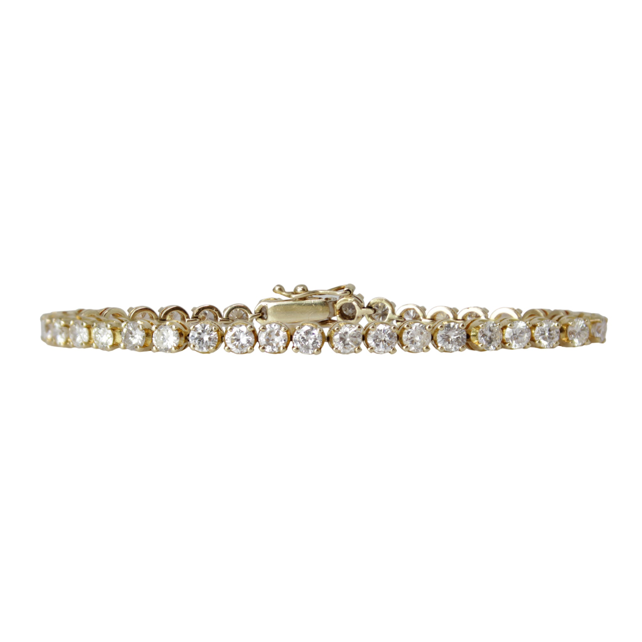 Classic Tennis Bracelet - 14K Yellow Gold Diamond Tennis Bracelet