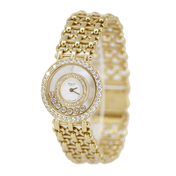 "Chopard ""Happy Diamonds"" Ladies 18K Yellow Gold Watch"